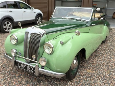 Lot 34-1950 Daimler DB18 Special Sports Drophead Coupe
