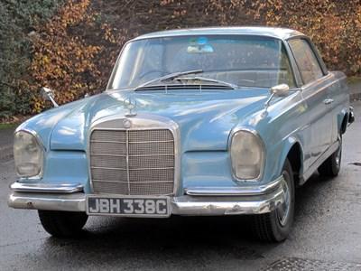 Lot 20-1965 Mercedes-Benz 220 SEB Coupe