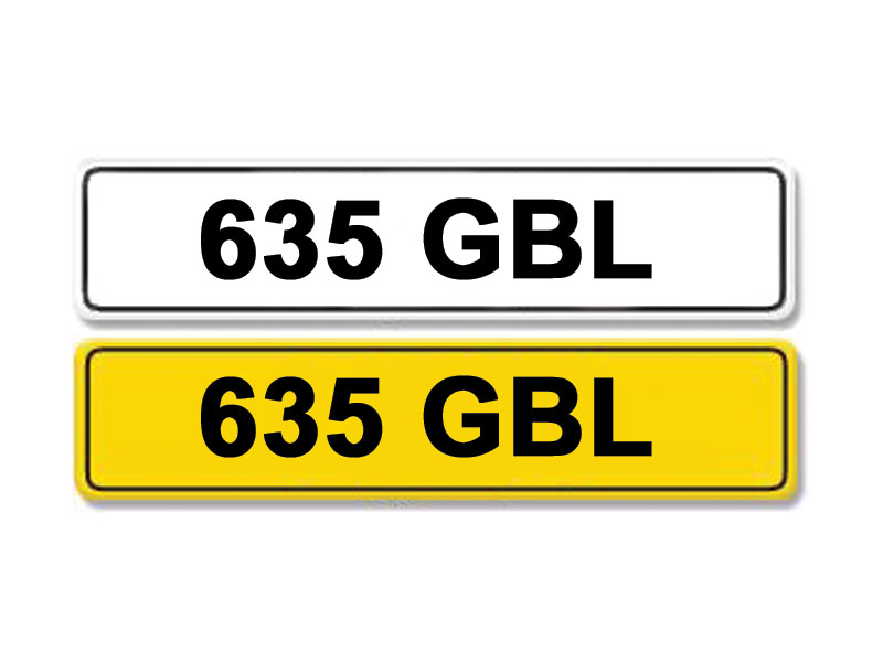 Lot 6 - Registration Number 635 GBL