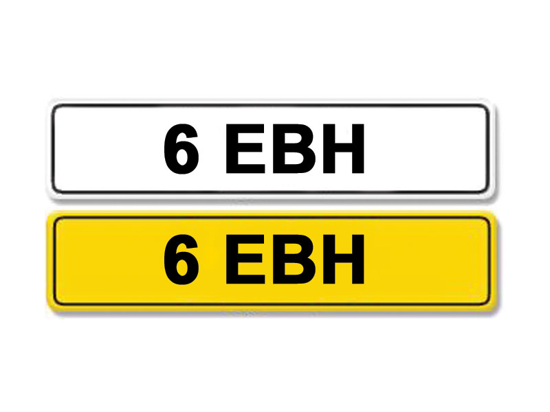 Lot 7-Registration Number 6 EBH