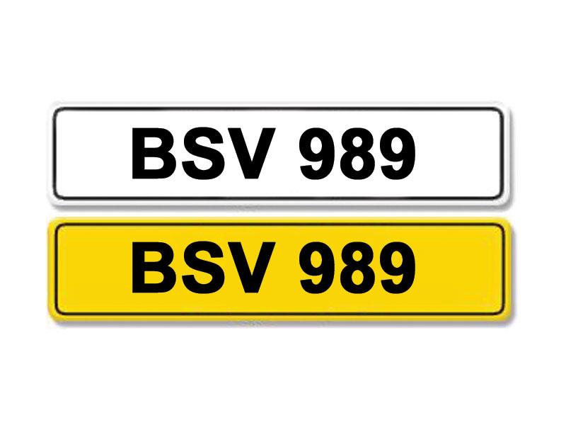 Lot 9-Registration Number BSV 989