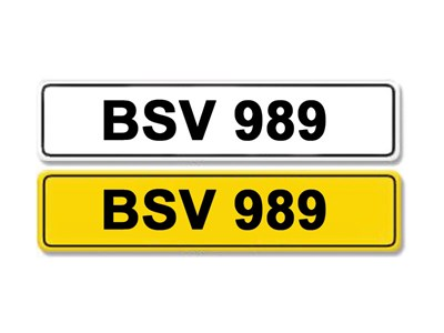 Lot 9-Registration Number BSV 989