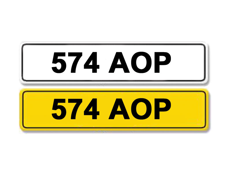 Lot 10-Registration Number 574 AOP
