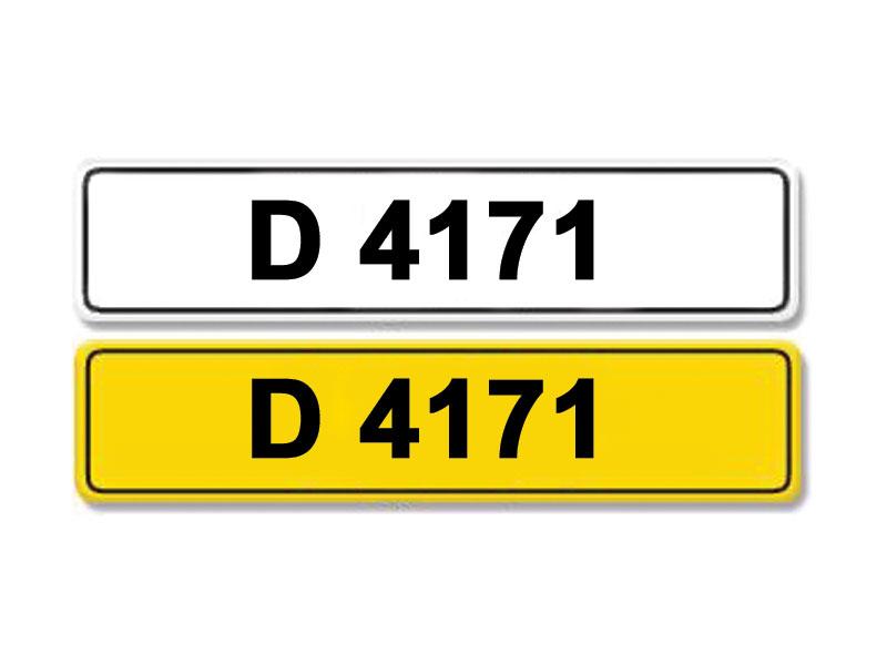 Lot 13-Registration Number D 4171