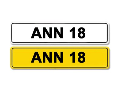 Lot 3 - Registration Number ANN 18