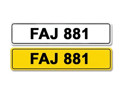 Lot 1-Registration Number FAJ 881