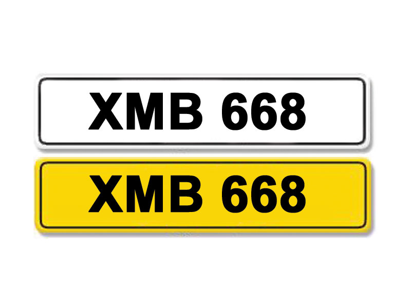 Lot 10 - Registration Number XMB 668