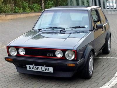 Lot 17-1983 Volkswagen Golf GTi
