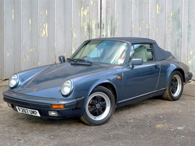 Lot 79 - 1989 Porsche 911 Carrera 3.2 Cabriolet