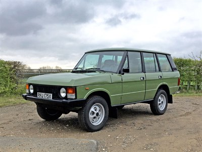 Lot 90-1982 Range Rover Classic