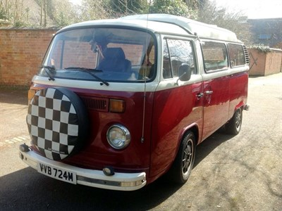 Lot 22-1974 Volkswagen Type 2 Camper Van