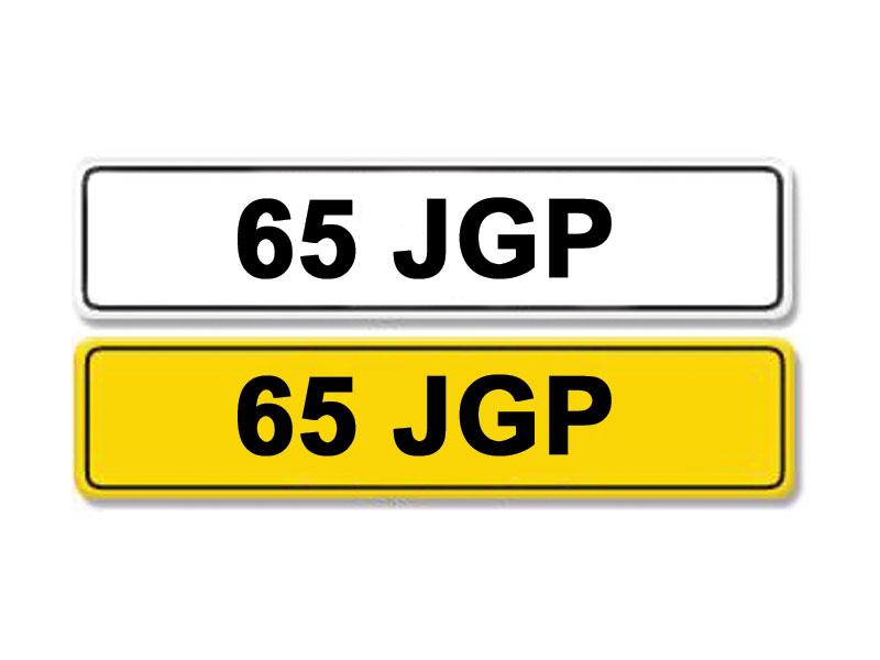 Lot 6 - Registration Number 65 JGP