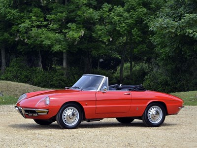 Lot 25-1967 Alfa Romeo Giulia 1600 Spider Duetto