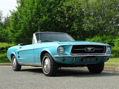 Lot 22-1967 Ford Mustang 289 Convertible