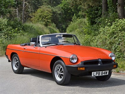 Lot 47-1980 MG B Roadster