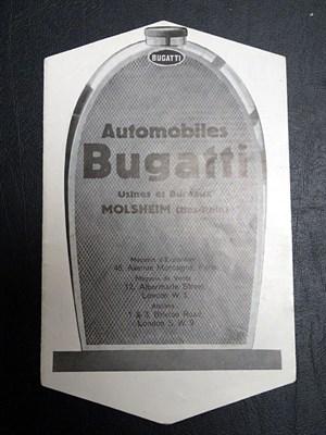 Lot 13-A Rare Bugatti Range Sales Brochure, c1929