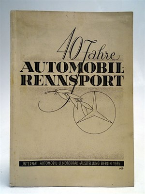 Lot 18-1935 Mercedes-Benz '40 Jahre Automobil-Rennsport' Achievement Brochure