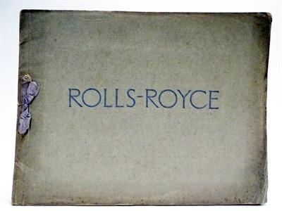 Lot 21-Rolls-Royce 20HP Prestige Sales Brochure