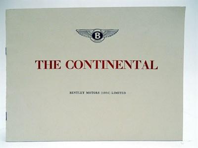 Lot 33-Bentley R-Type Continental Sales Brochure