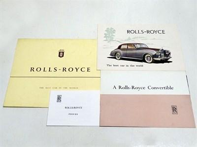 Lot 28-Three Rolls-Royce Silver Cloud Sales Brochures