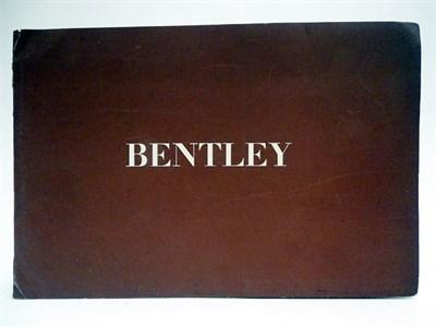 Lot 34-Rare Bentley Salesman's Brochure Pack