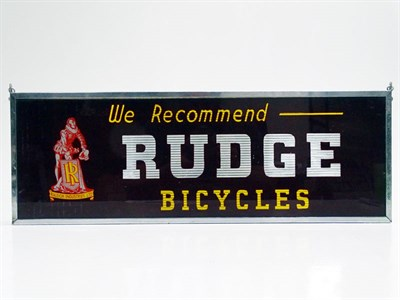 Lot 54 - Rudge Cycles Glass Advertising Sign