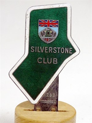 Lot 68 - A Rare BRDC Silverstone Club Enamel Car Badge