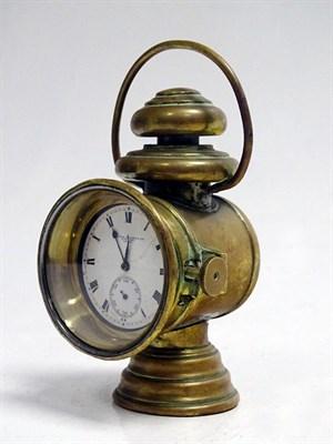 Lot 69-Sir John Bennett Ltd Miniature Brass Side Lamp Clock