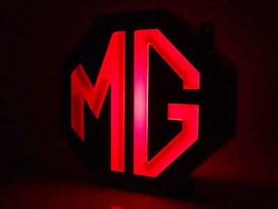 Lot 89-MG Illuminated Showroom Sign