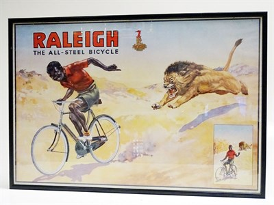 Lot 64 - An Original Raleigh Cycles Advertising Poster