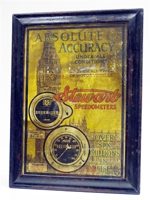 Lot 91 - A Rare and Early Stewart Speedometers Showcard, c1910