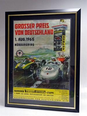 Lot 62 - A Rare German Grand Prix Advertising Poster, 1965