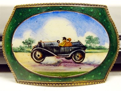 Lot 29-A Rare Pictorial Enamel Belt Buckle, 1910s