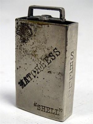 Lot 95 - A Rare Shell Petrol '2 Gallon can' Cigarette Lighter, 1920s