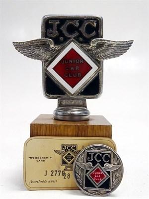 Lot 74-Malcolm Campbell's Personal Junior Car Club Member's Badge