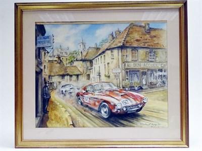Lot 70-Michael Wright Original Artwork - Ferrari 250 SWB