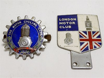Lot 61 - Two Car Badges