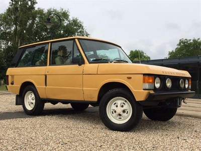 Lot 21-1982 Range Rover 'Two Door'