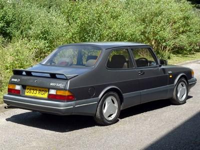 Lot 44-1990 Saab 900 Turbo 16 S Two-Door Saloon