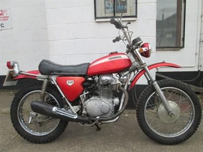 Lot 37-1970 Honda SL350