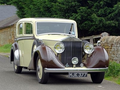 Lot 41-1935 Rolls-Royce 25/30 Saloon with Division