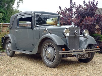 Lot 6-1933 Morris 10/4 Special Coupe