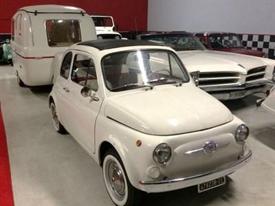 Lot 64-1971 Fiat 500 F with Graziella 300 Caravan