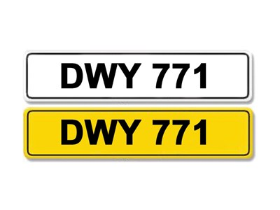 Lot 3-Registration Number DWY 771