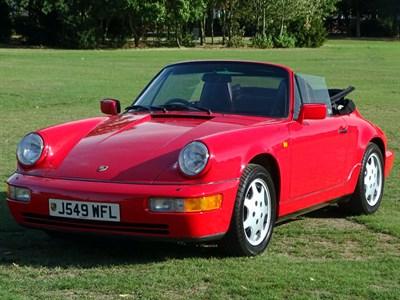 Lot 62-1991 Porsche 911 Carrera 4 Cabriolet