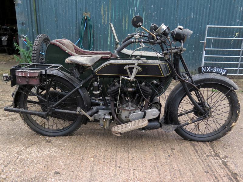 Lot 89-1924 AJS Model D Combination