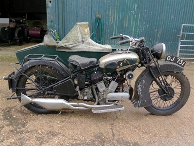 Lot 87 - 1932 BSA G12 Combination