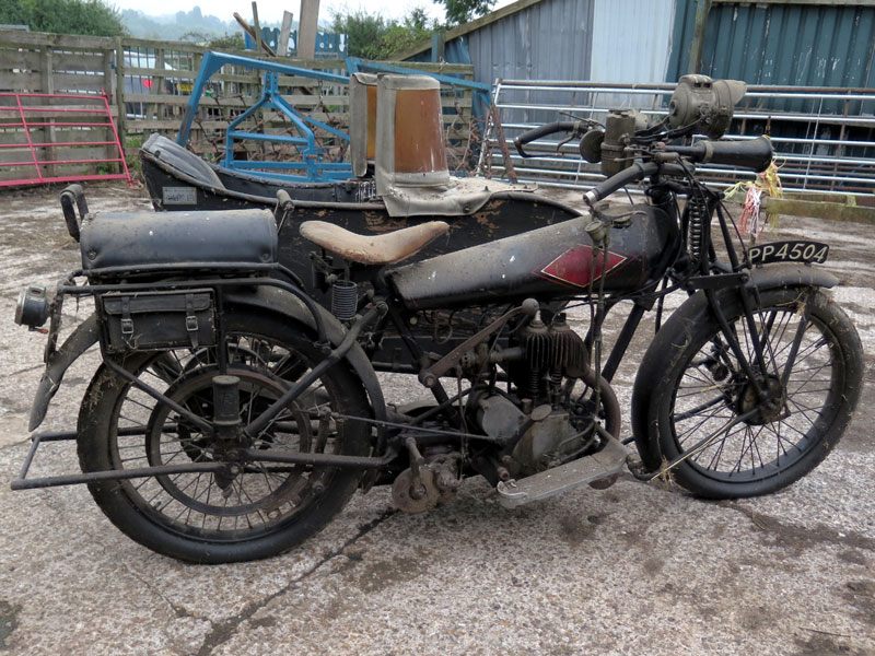 Lot 83-1925 Quadrant 650cc Combination
