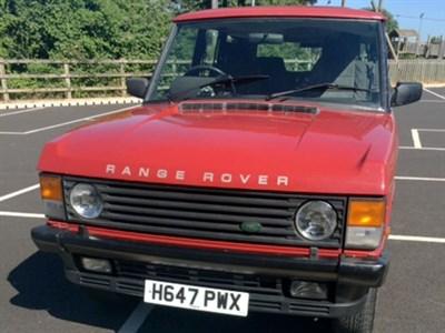 Lot 64 - 1990 Range Rover Vogue EFi