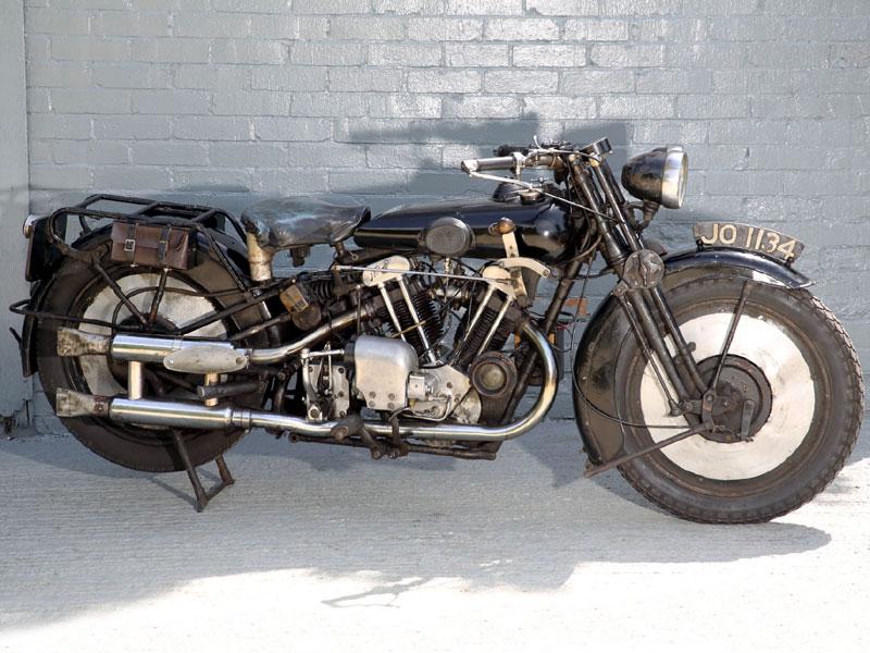 Lot 25-1930 Brough Superior 680 Black Alpine